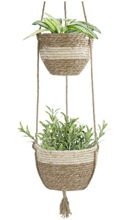 Hanging Planter Basket Indoor Outdoor,Natural Seagrass Flower Plant Pots