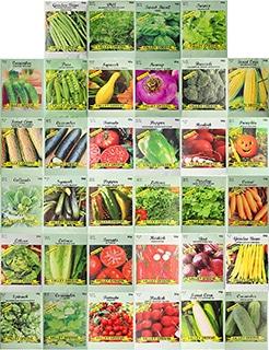 Set of 34 Pack Vegetable & Herb Seeds 34 Varieties
