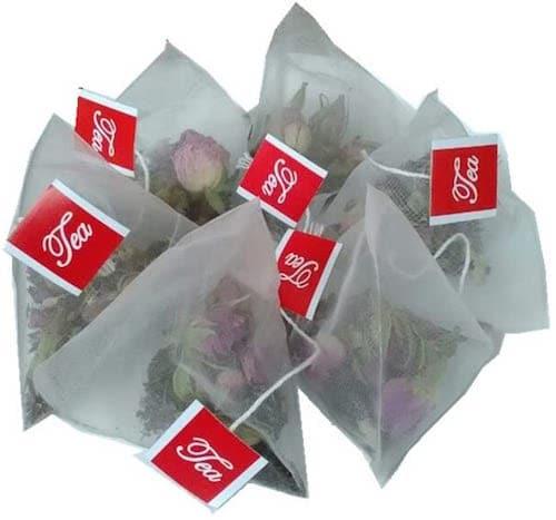 Lucklovely Empty Heat Sealing Nylon Pyramid Tea Filter Bags
