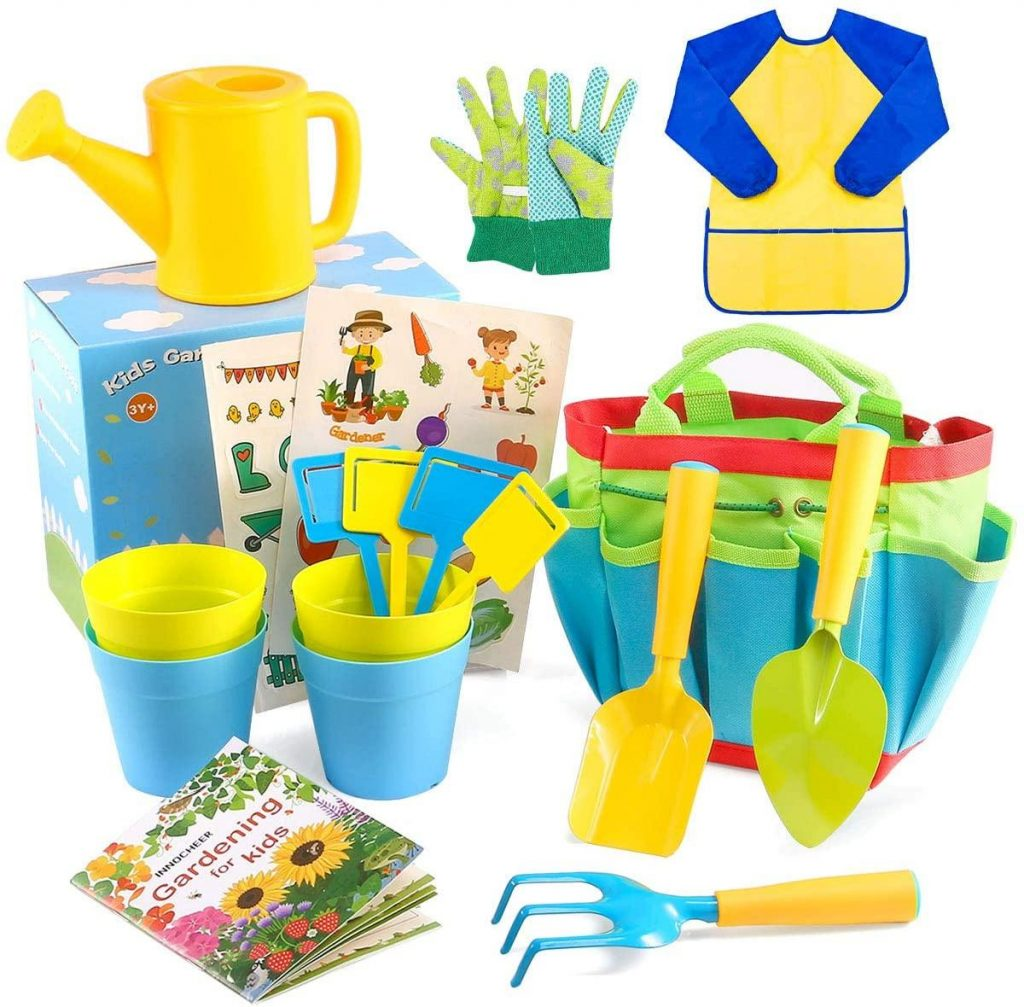 INNOCHEER Kids Gardening Tools with STEM Learning Guide