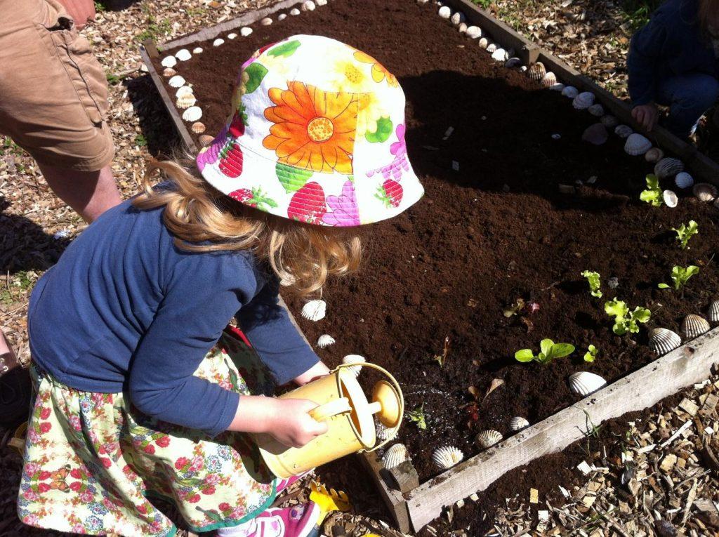kid garden watering
