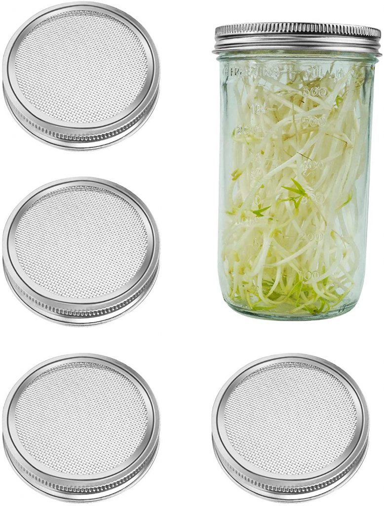 4 Pack Stainless Steel Sprouting Lids