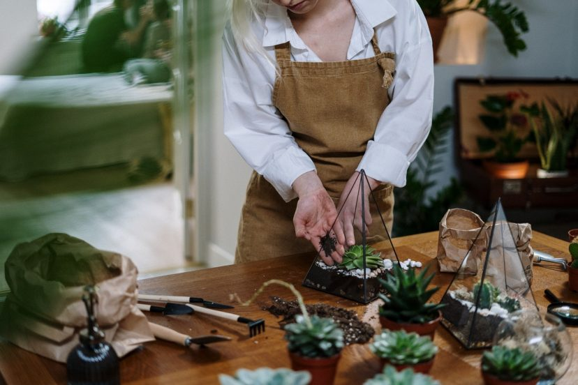 A Woman Using Garden Apron