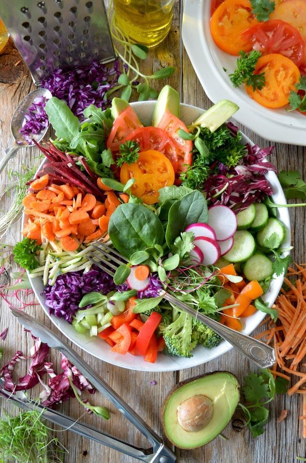 Microgreen raddish salad