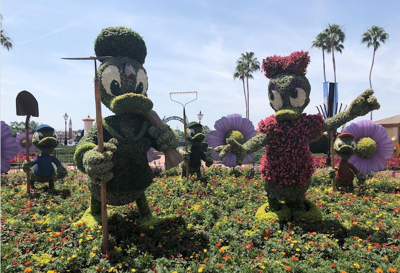 The Duck Family - Donald Duck, Daisy, Huey, Dewey, and Louie Garden