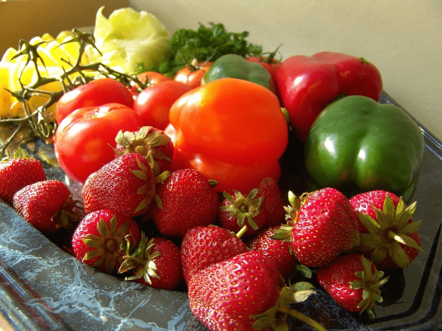 Strawberries with tomatoes